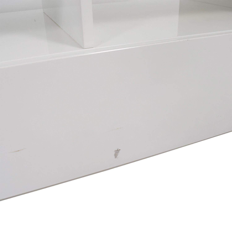 shop Modern White TV Stand Storage