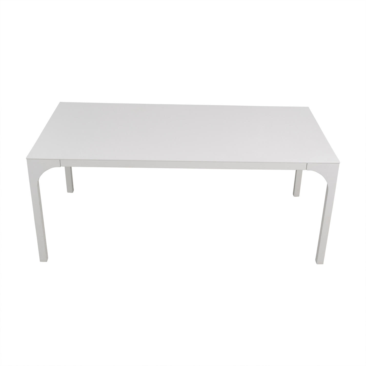 Superieur 53% OFF   White Rectangular Table / Tables