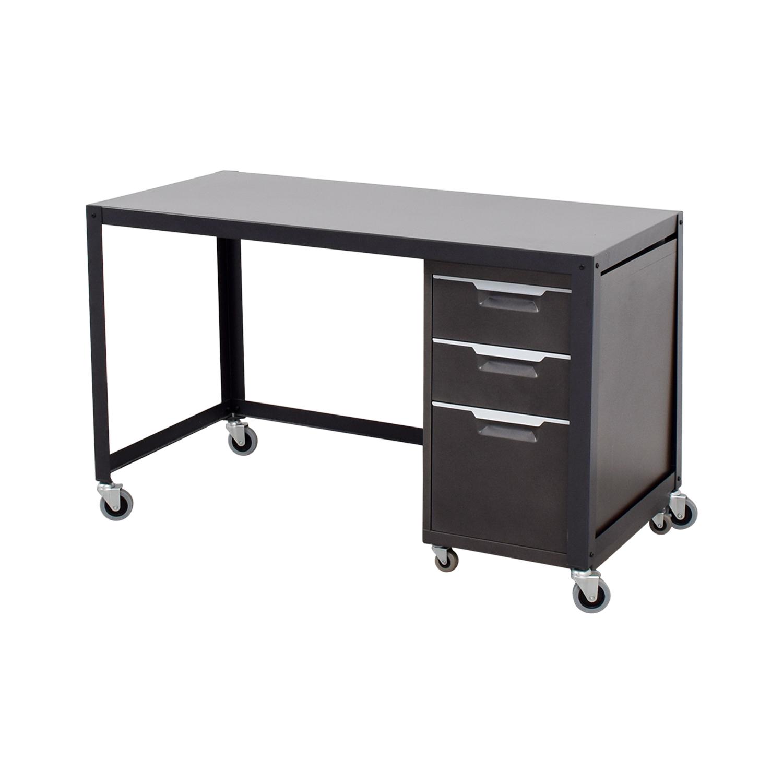 office metal desk. Metal Desk On Castors With Filing Cabinet Coupon Office