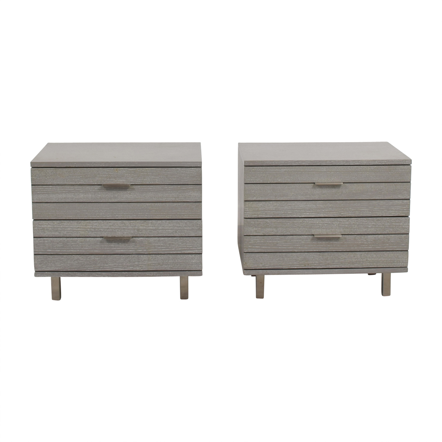 shop CB2 CB2 Grey Two-Drawer Night Stands online