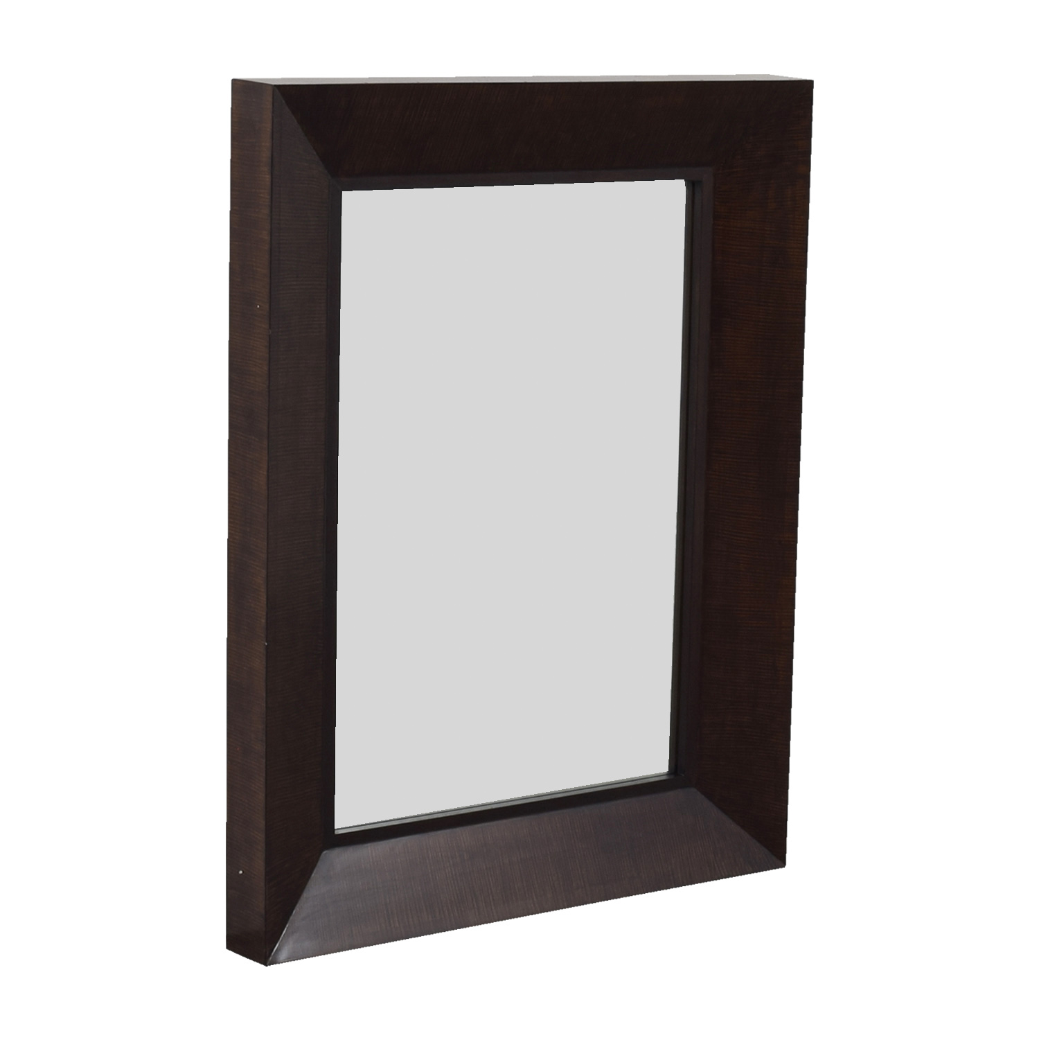 84% OFF - Kreiss Kreiss Wood Framed Mirror / Decor