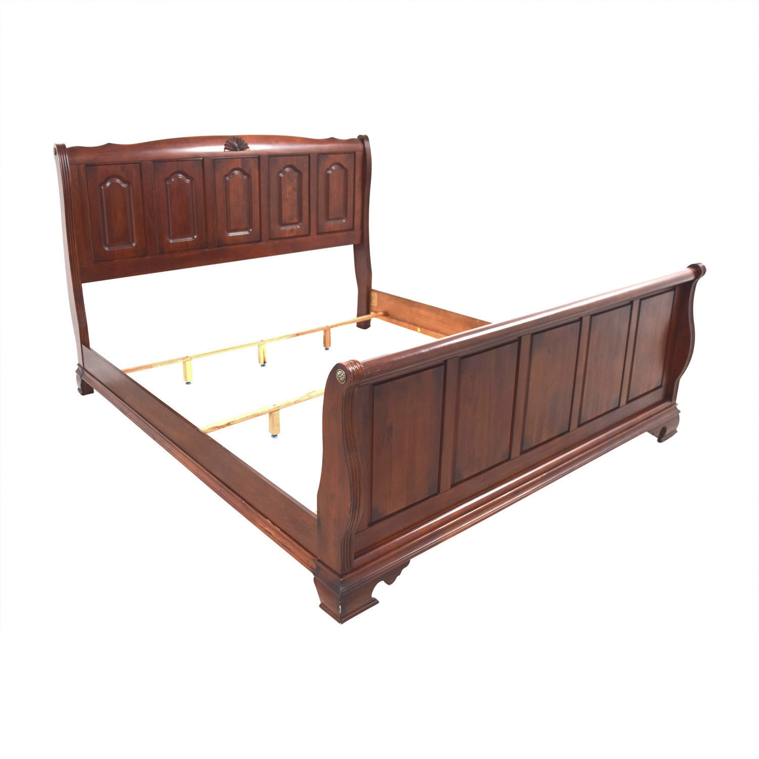 buy Bobs Furniture Bobs Furniture Mahogany King Sleigh Bed online