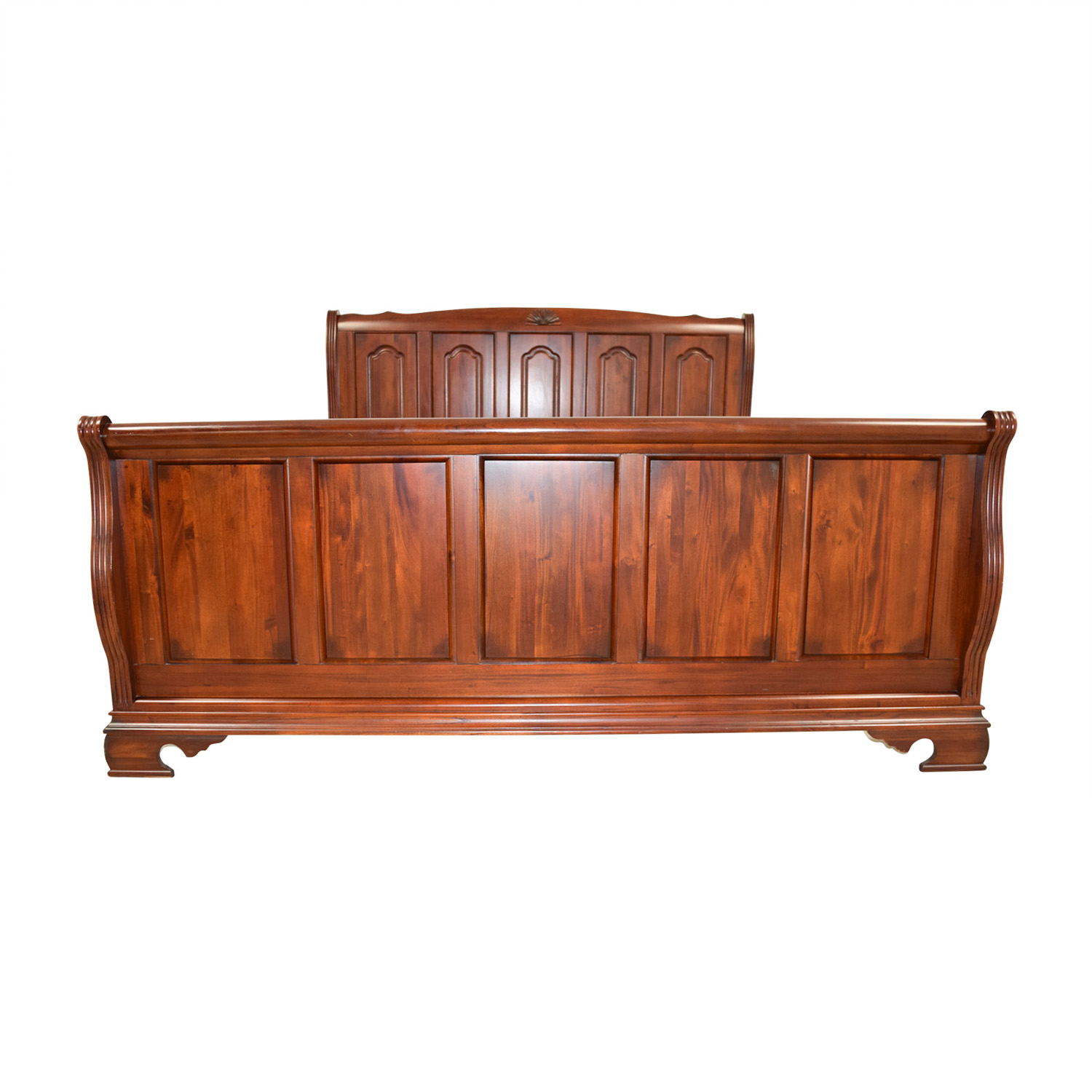 Bobs Furniture Bobs Furniture Mahogany King Sleigh Bed discount