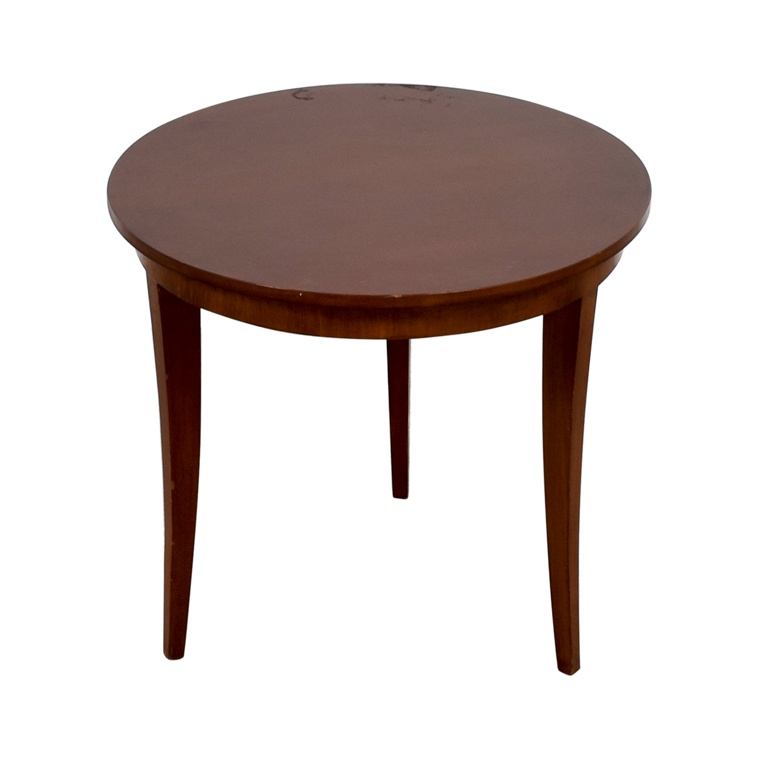Furniture Masters Furniture Masters Round Wood End Table second hand