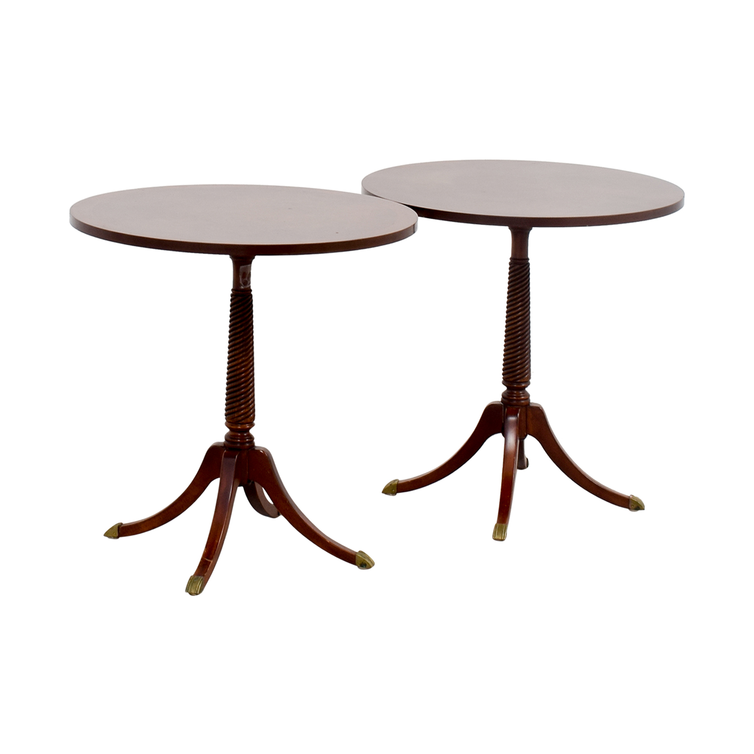 Furniture Masters Furniture Masters Round Wood End Tables nyc