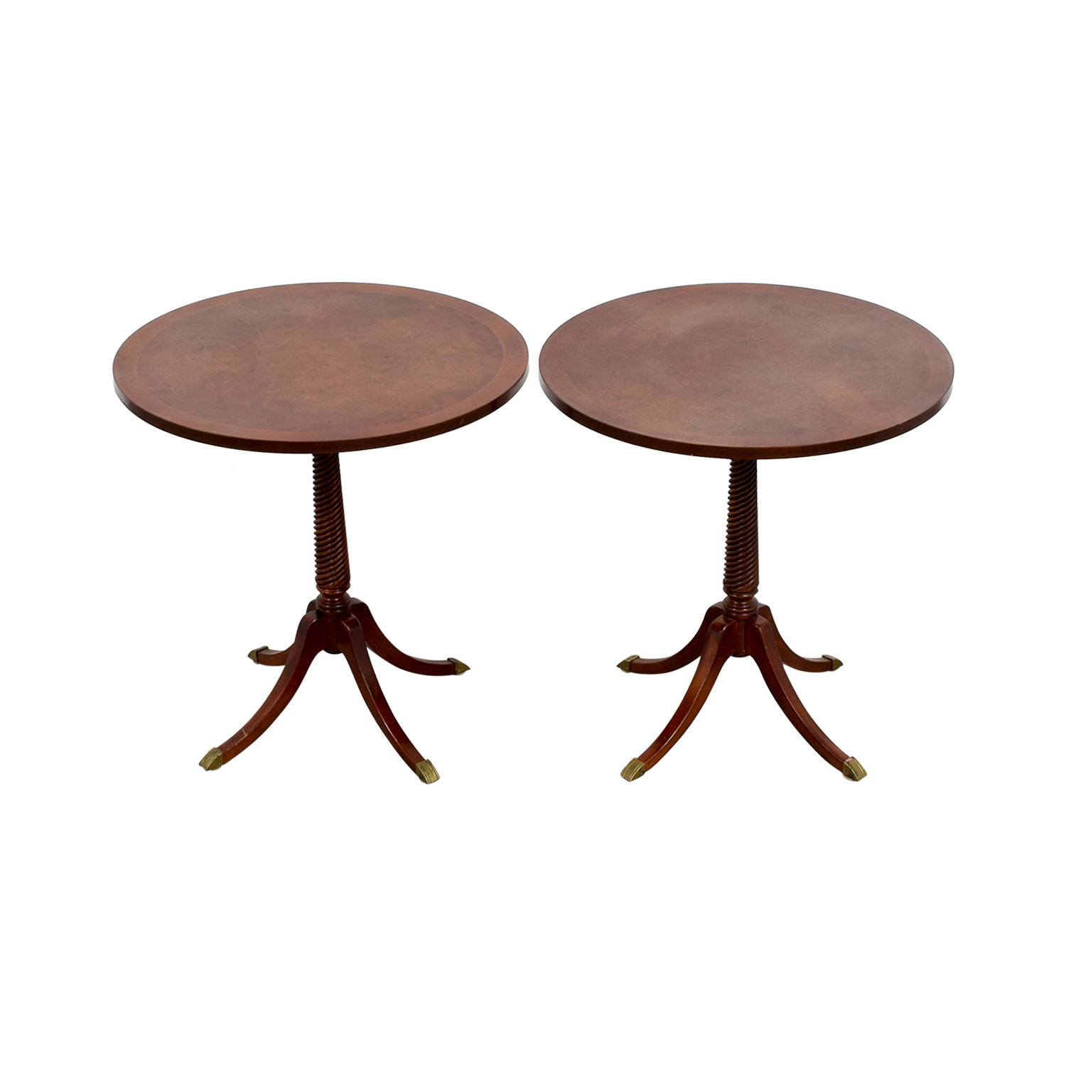 Furniture Masters Round Wood End Tables sale