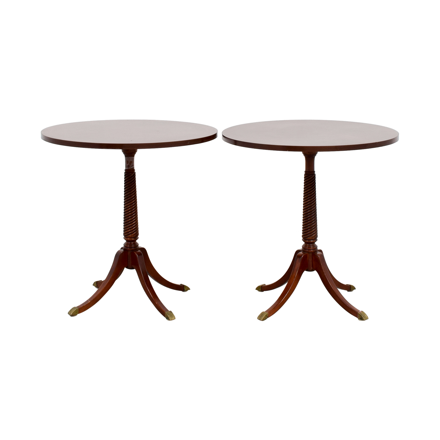 Furniture Masters Furniture Masters Round Wood End Tables for sale