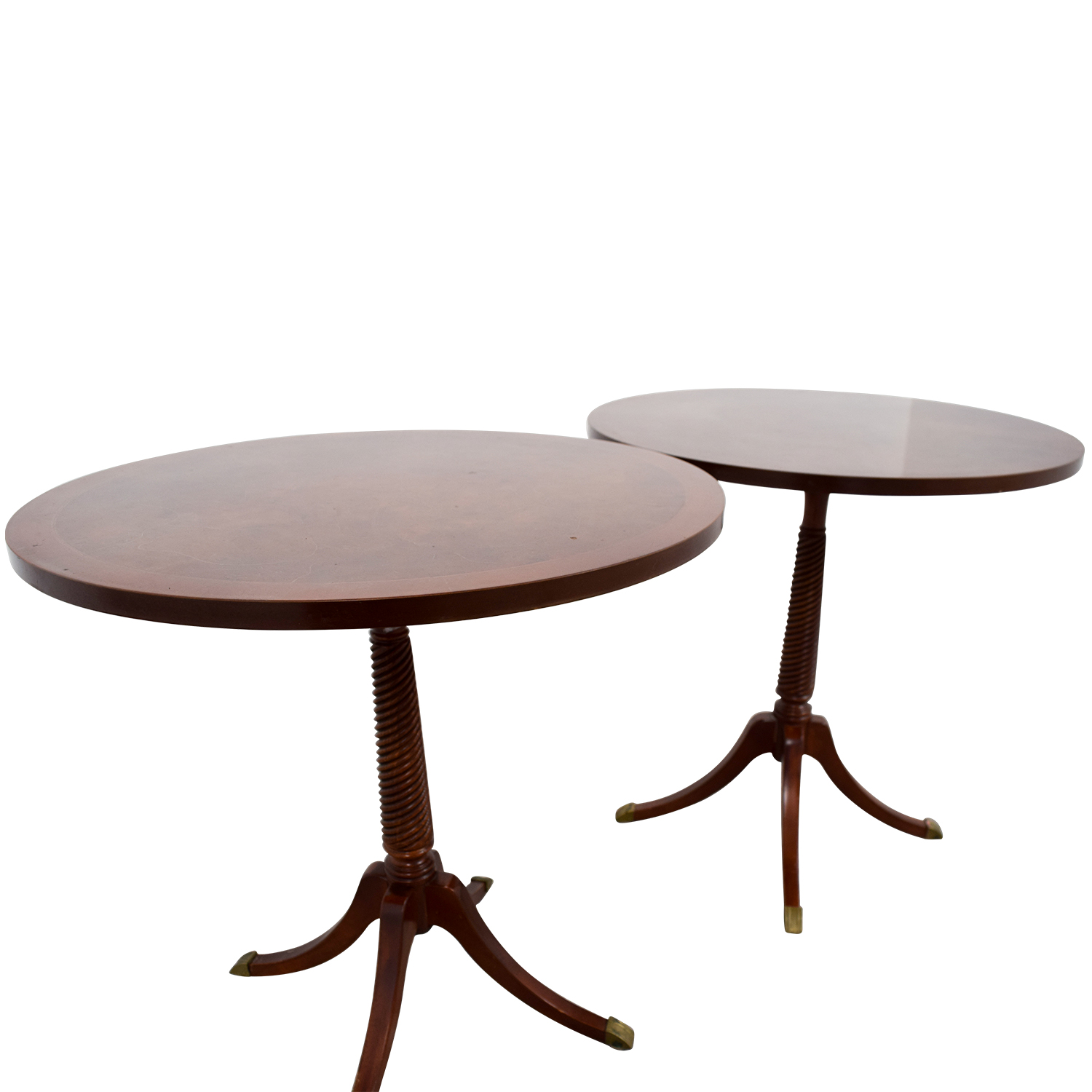 Furniture Masters Furniture Masters Round Wood End Tables dimensions