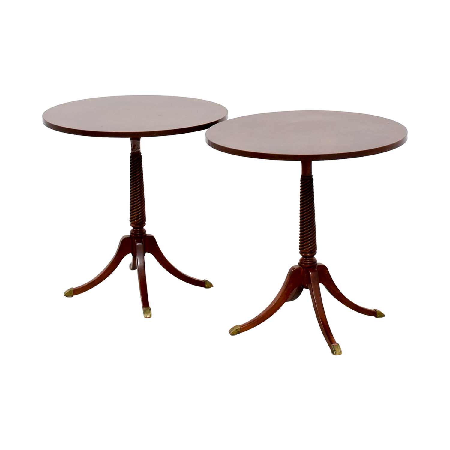Furniture Masters Furniture Masters Round Wood End Tables End Tables