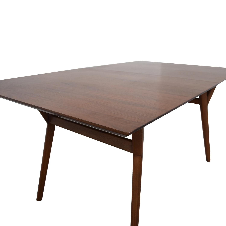 shop West Elm West Elm Mid-Century Walnut Expandable Dining Table online