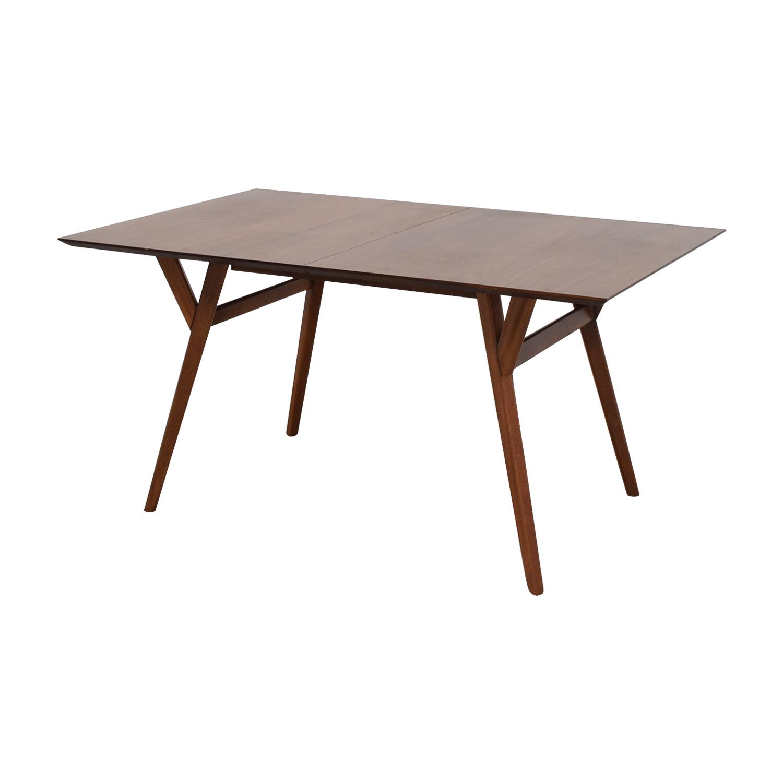 43 off west elm west elm mid century walnut expandable dining table tables. Black Bedroom Furniture Sets. Home Design Ideas
