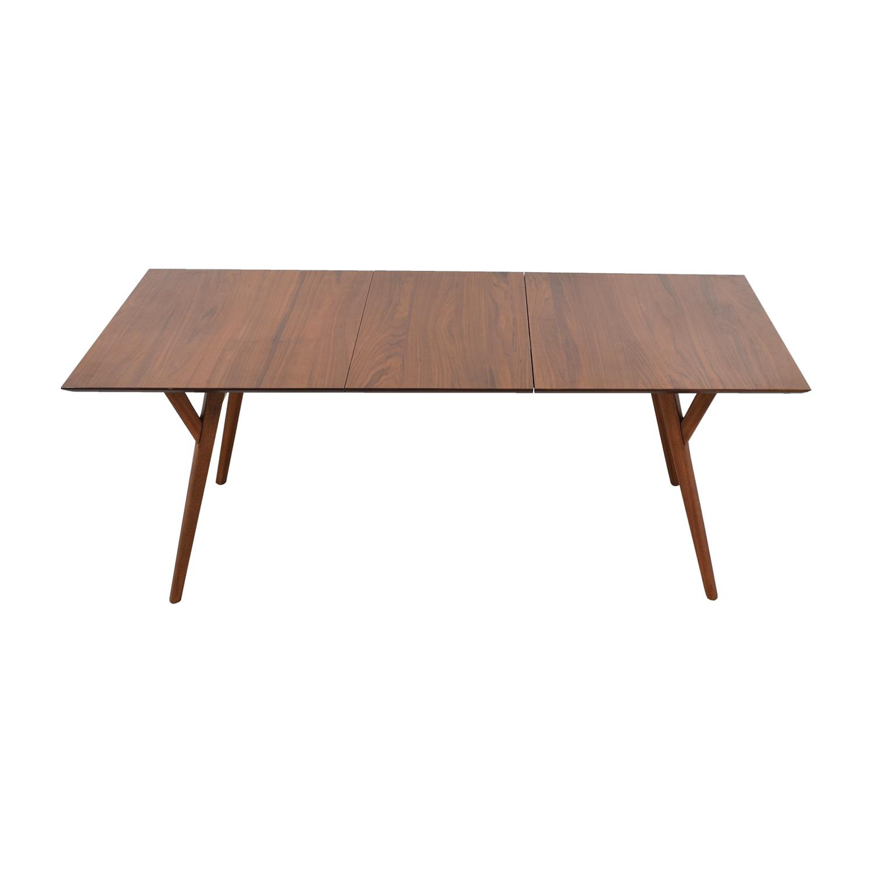 West Elm West Elm Mid-Century Walnut Expandable Dining Table Cherry Wood