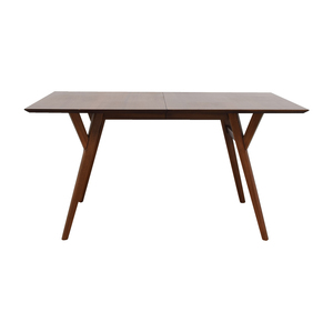 West Elm West Elm Mid-Century Walnut Expandable Dining Table used