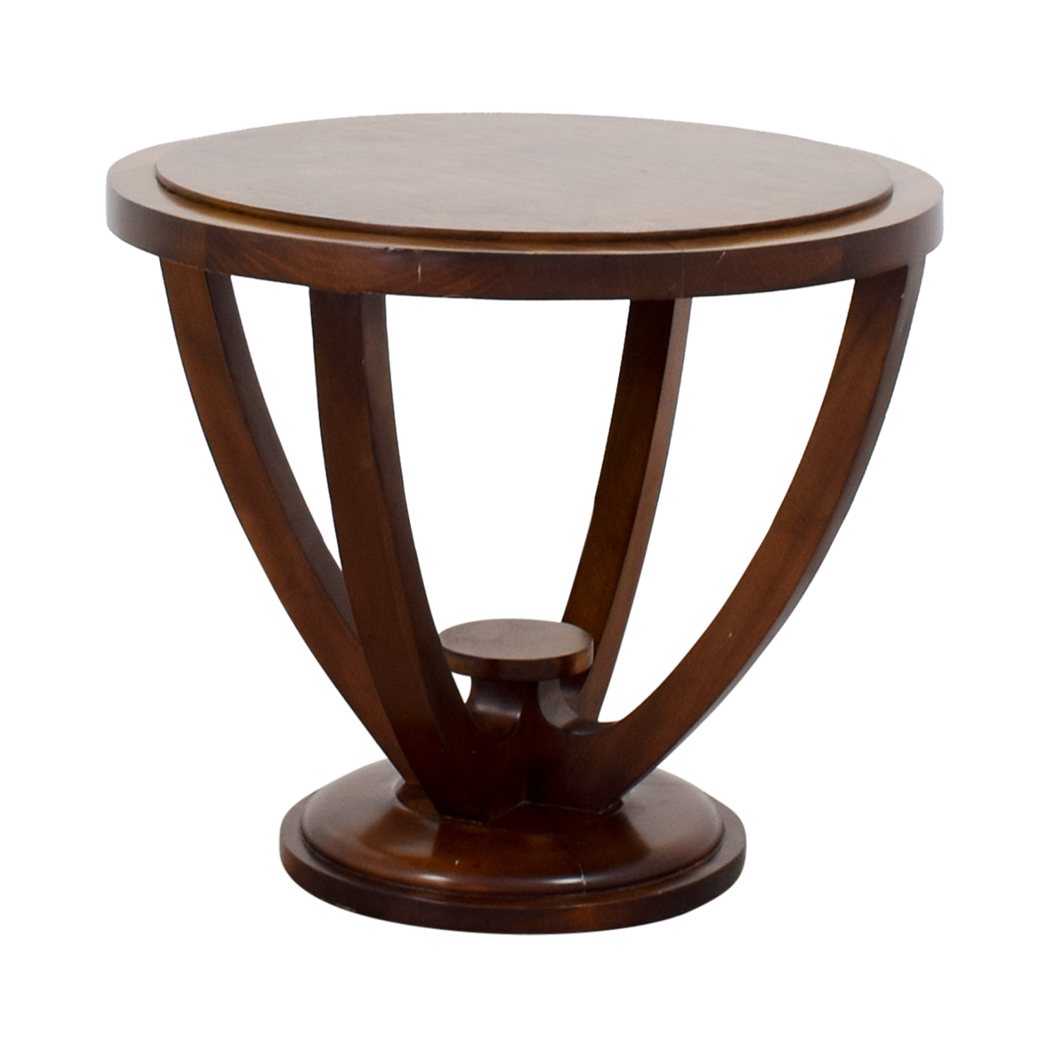 Furniture Masters Furniture Masters Round Wood End Table nj