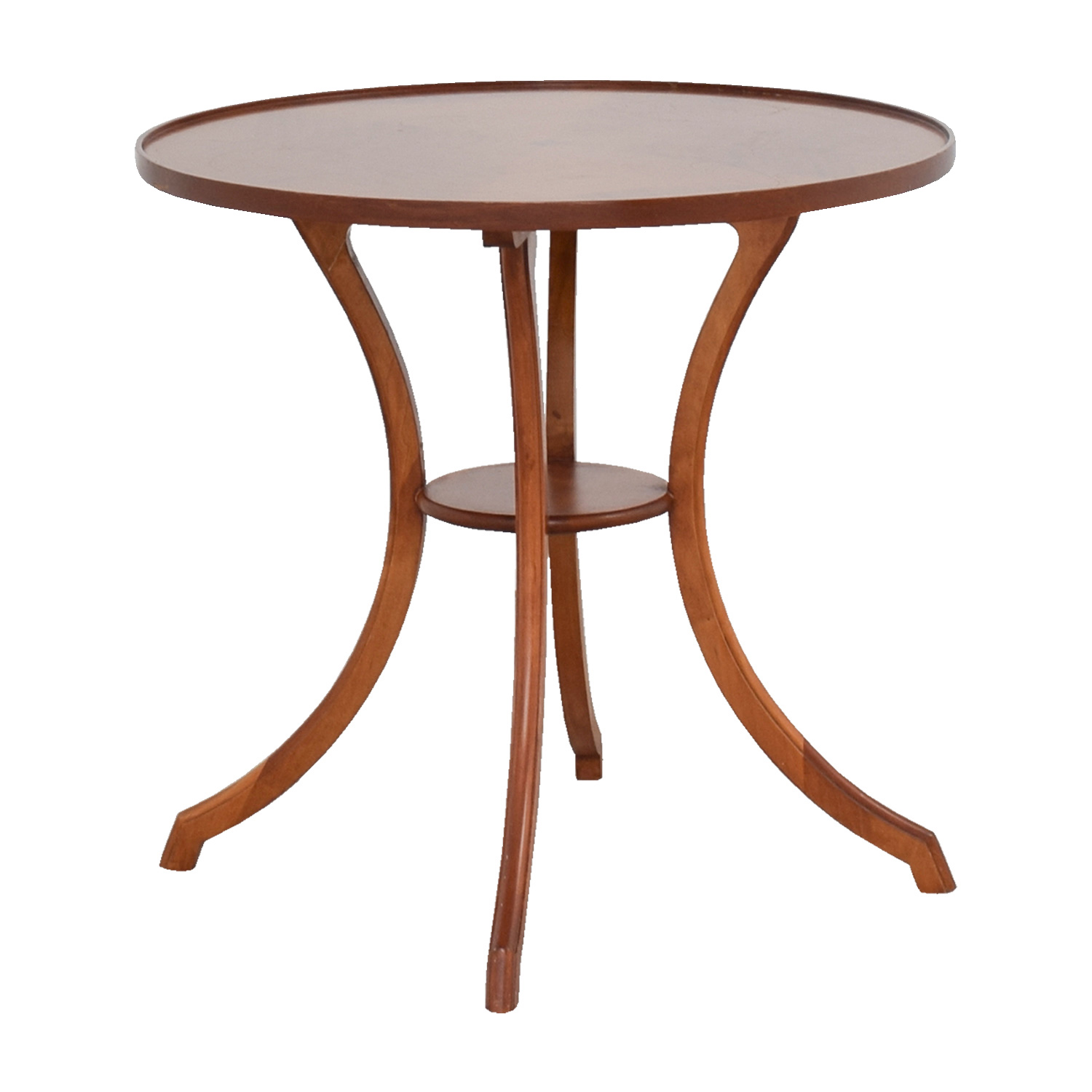 shop Furniture Masters Round Wood Accent Table Furniture Masters