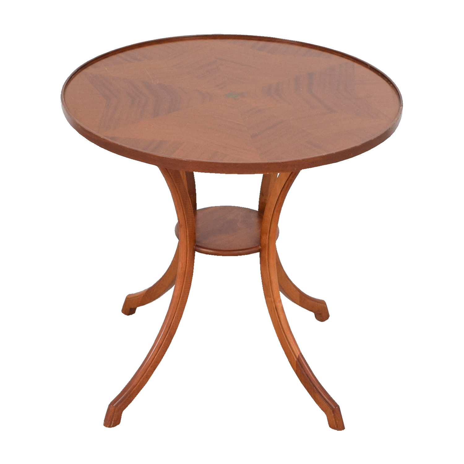 Round wooden accent table designer tables reference for Circular wooden table
