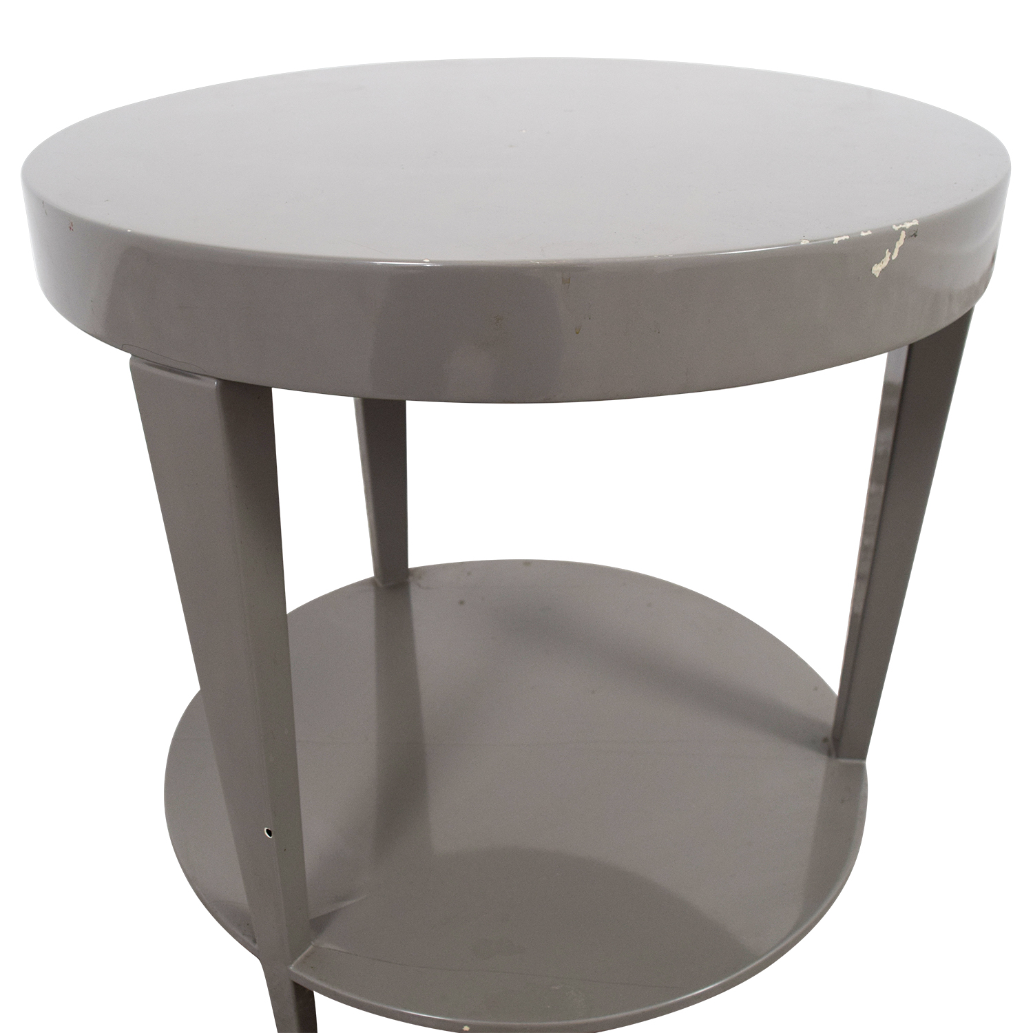 Furniture Masters Furniture Masters Round Grey End Table Grey