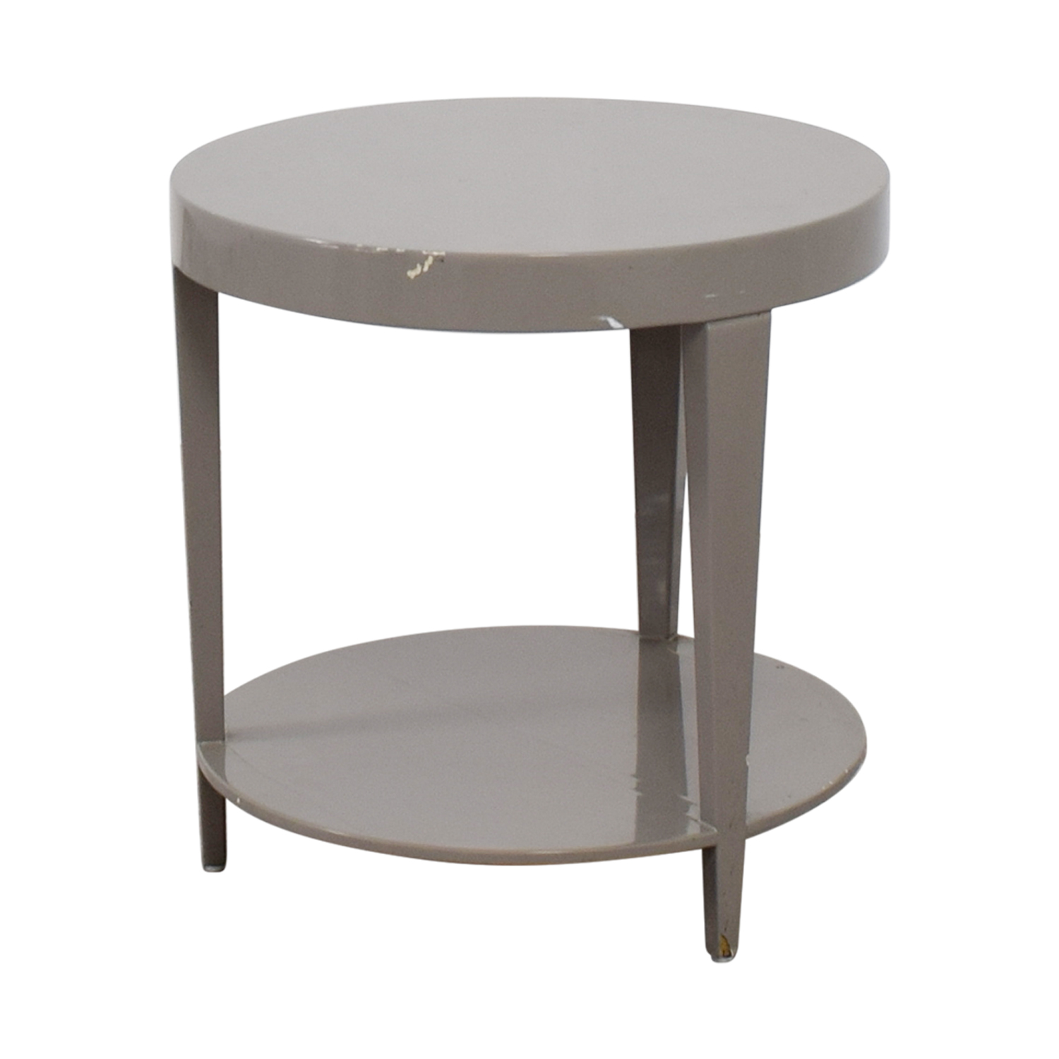 Furniture Masters Round Grey End Table / End Tables