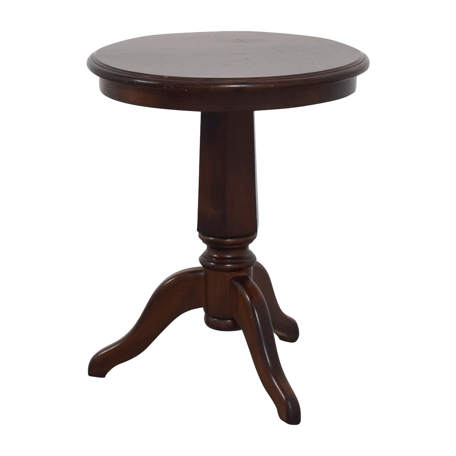Furniture Masters Round Wooden End Table Chocolate
