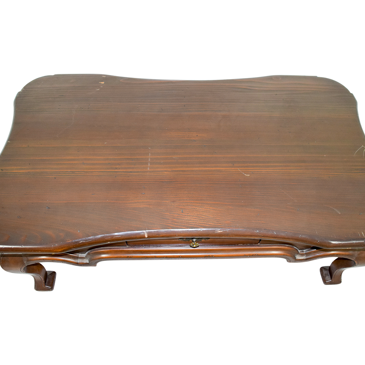 shop Furniture Masters Furniture Masters Wood Curved Single Drawer Coffee Table online