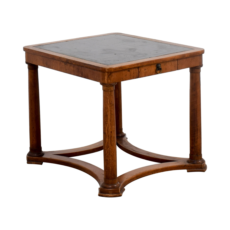Furniture Masters Furniture Masters Baker Black Top End Table Light Brown / Black