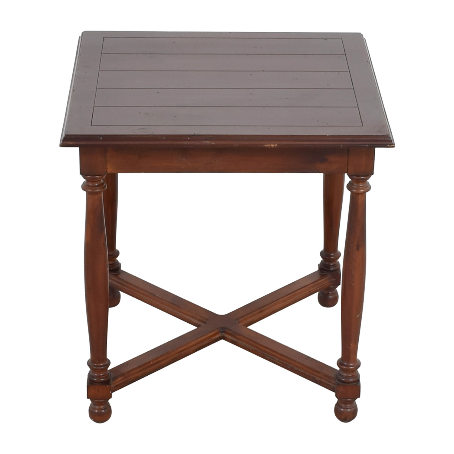 Furniture Masters Furniture Masters Crossed Base End Table Dark Cherry