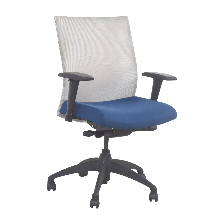 buy Stylex Blue Adjustable Arms Task Chair Stylex