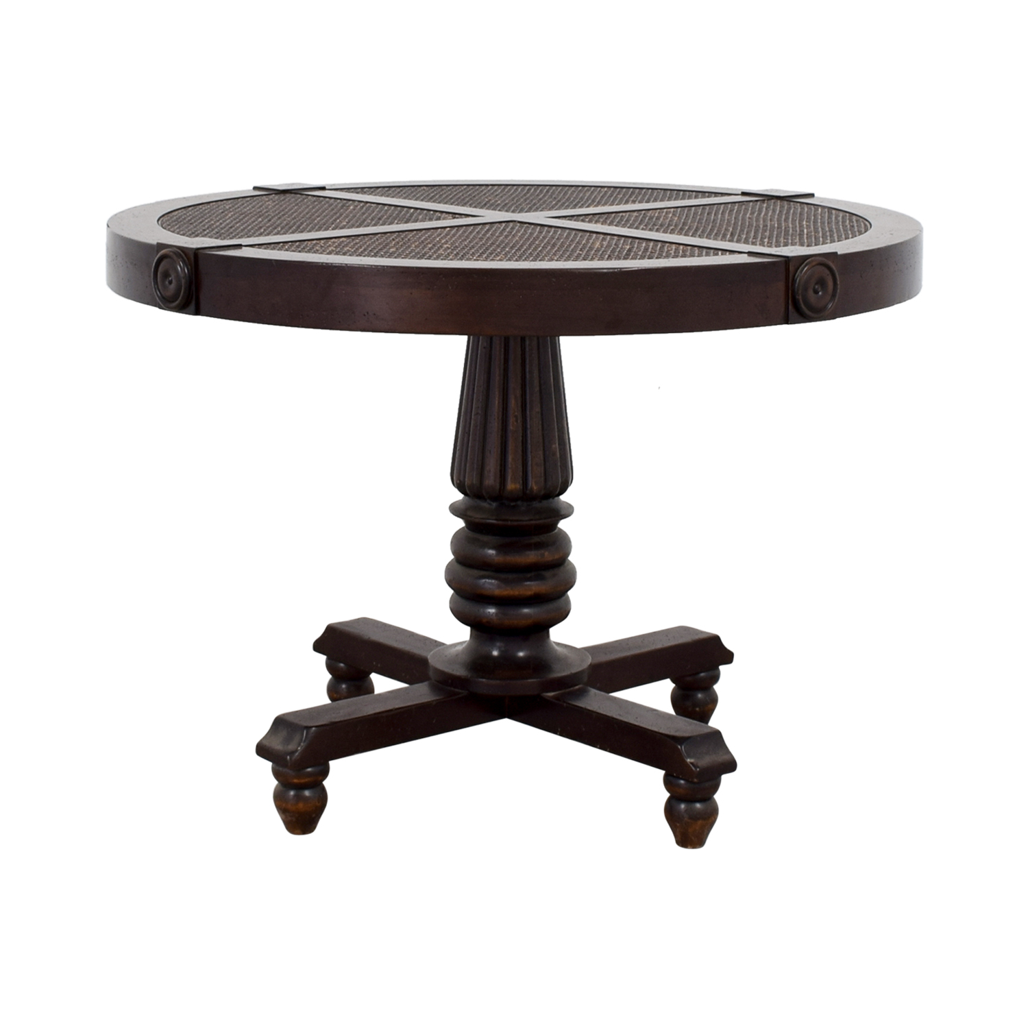 Furniture Masters Furniture Masters Wood Cane Weave Dining Table second hand