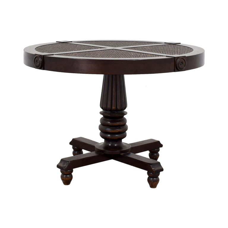 Furniture Masters Wood Cane Weave Dining Table Furniture Masters