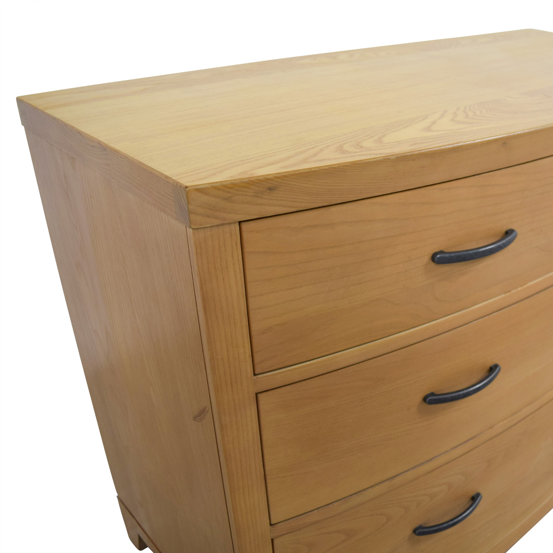 buy Ethan Allen Three-Drawer Wood Dresser Ethan Allen Dressers