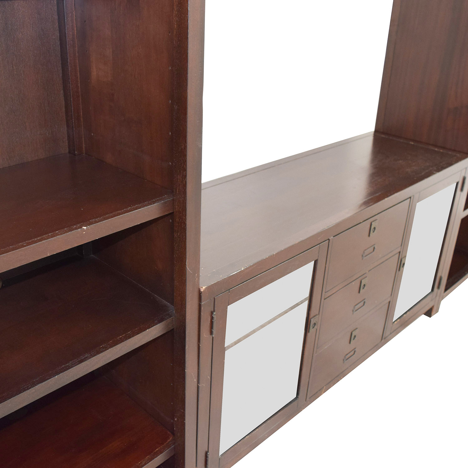 82 Off Pottery Barn Pottery Barn Rhys Media Console Storage