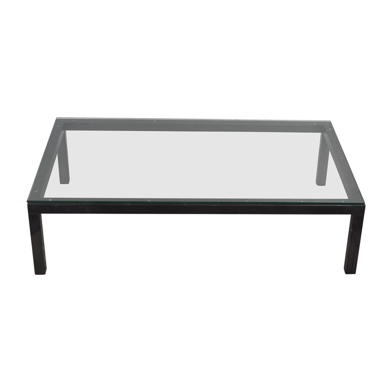 Glass Rectangular Coffee Table nyc