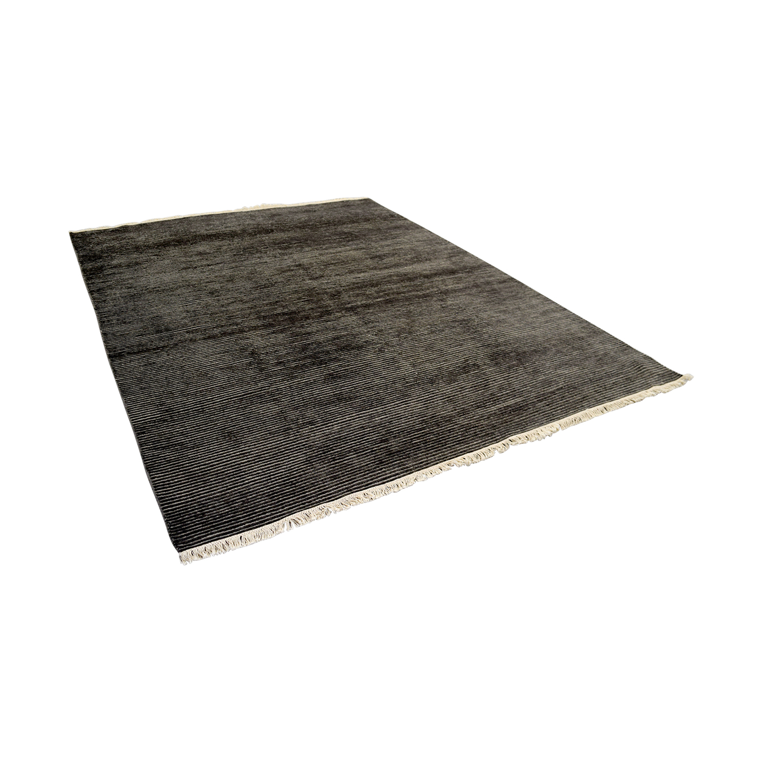 Obeetee Obeetee Talia Hand Knotted Charcoal Wool Rug for sale