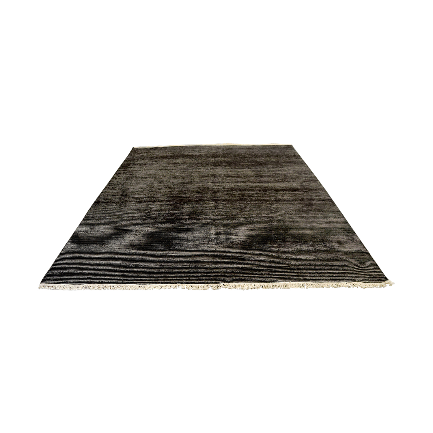 buy Obeetee Talia Hand Knotted Charcoal Wool Rug Obeetee Rugs