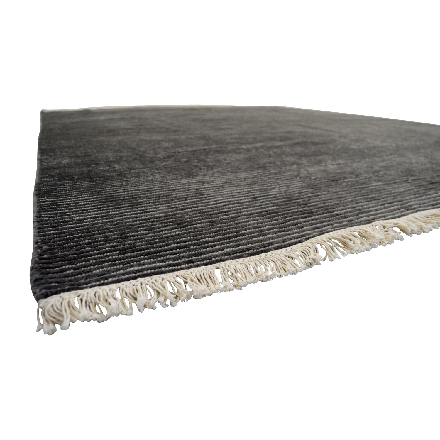 Obeetee Talia Hand Knotted Charcoal Wool Rug Obeetee