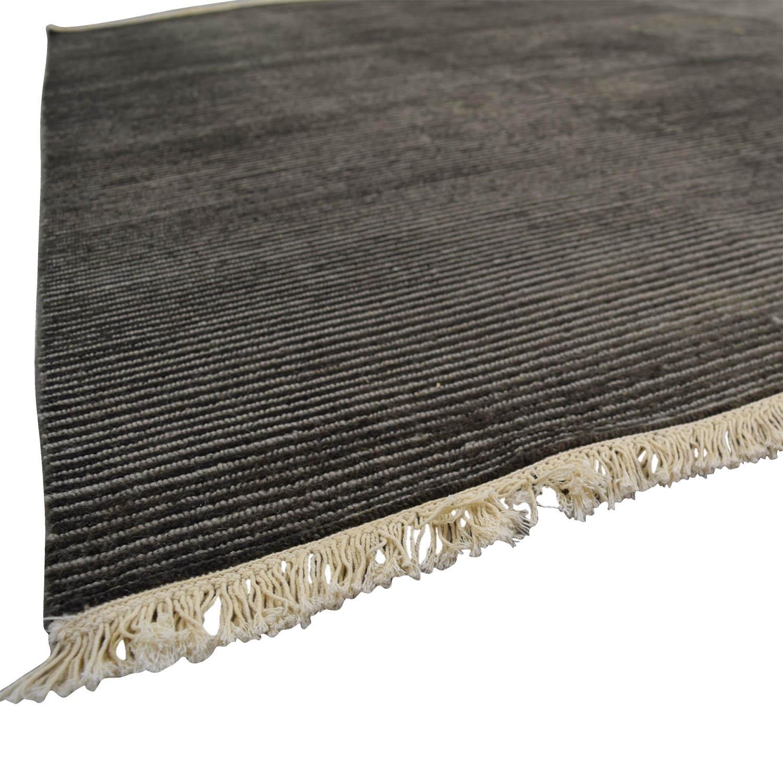 Room Board Talia Charcoal Grey Rug Used
