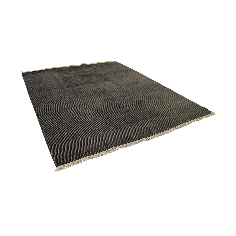 Room & Board Talia Charcoal Grey Rug / Decor