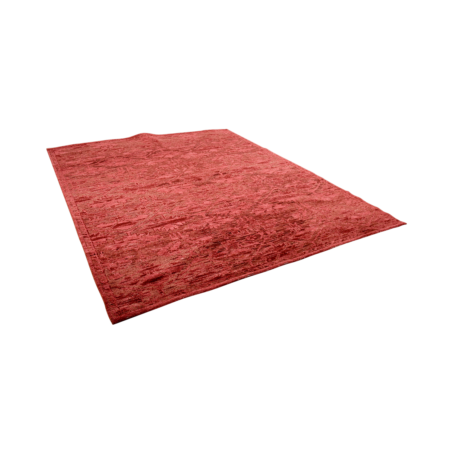 Obeetee Obeetee Hand Knotted Amira Paprika Wool Rug Decor