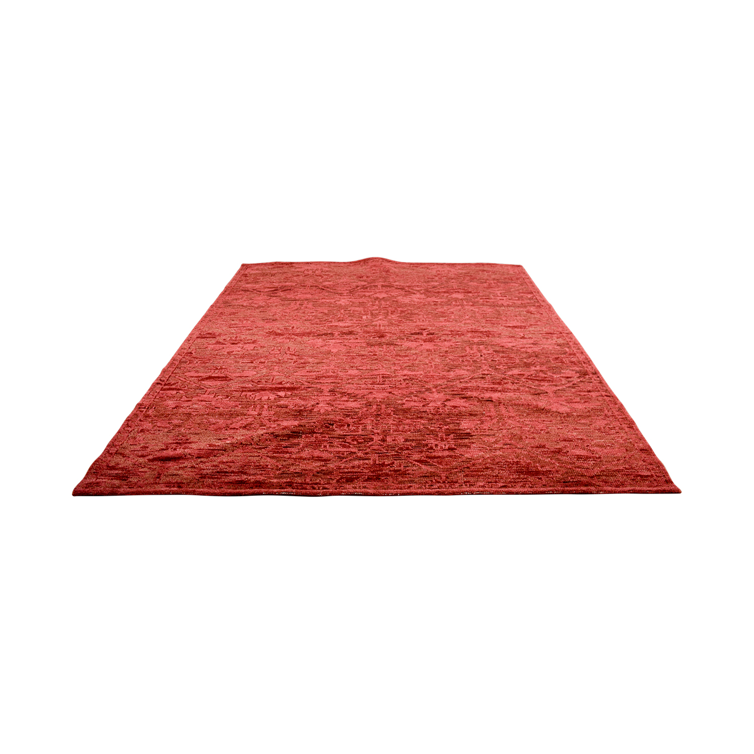buy Obeetee Hand Knotted Amira Paprika Wool Rug Obeetee Decor