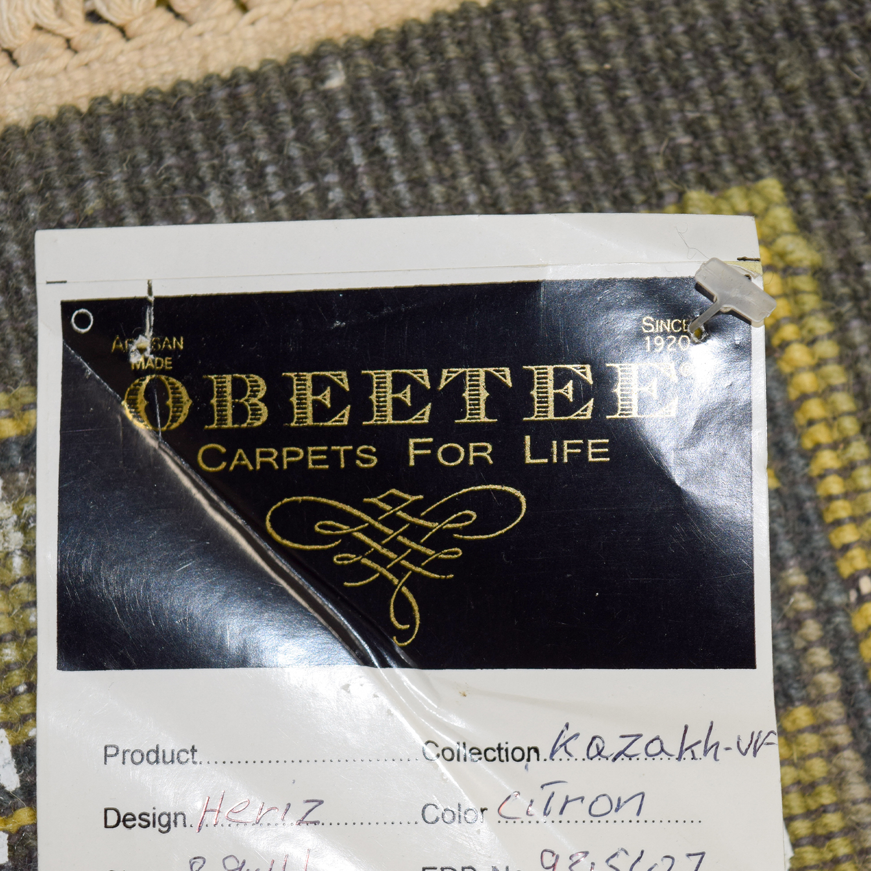 Obeetee Obeetee Heriz Grey Yellow and Brown Wool Rug dimensions