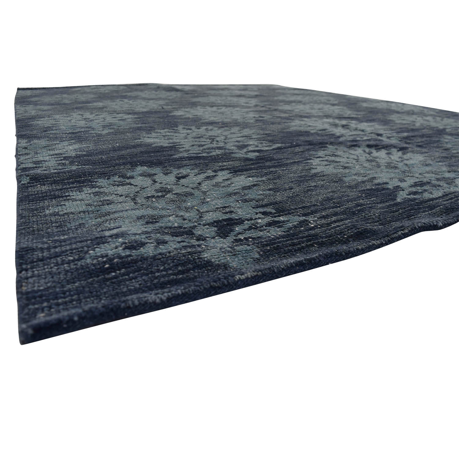 Obeetee Obeetee Hand Knotted Amira Azul Blue Wool Rug discount