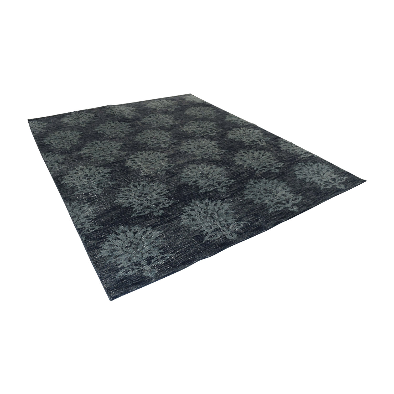 buy Obeetee Hand Knotted Amira Azul Blue Wool Rug Obeetee