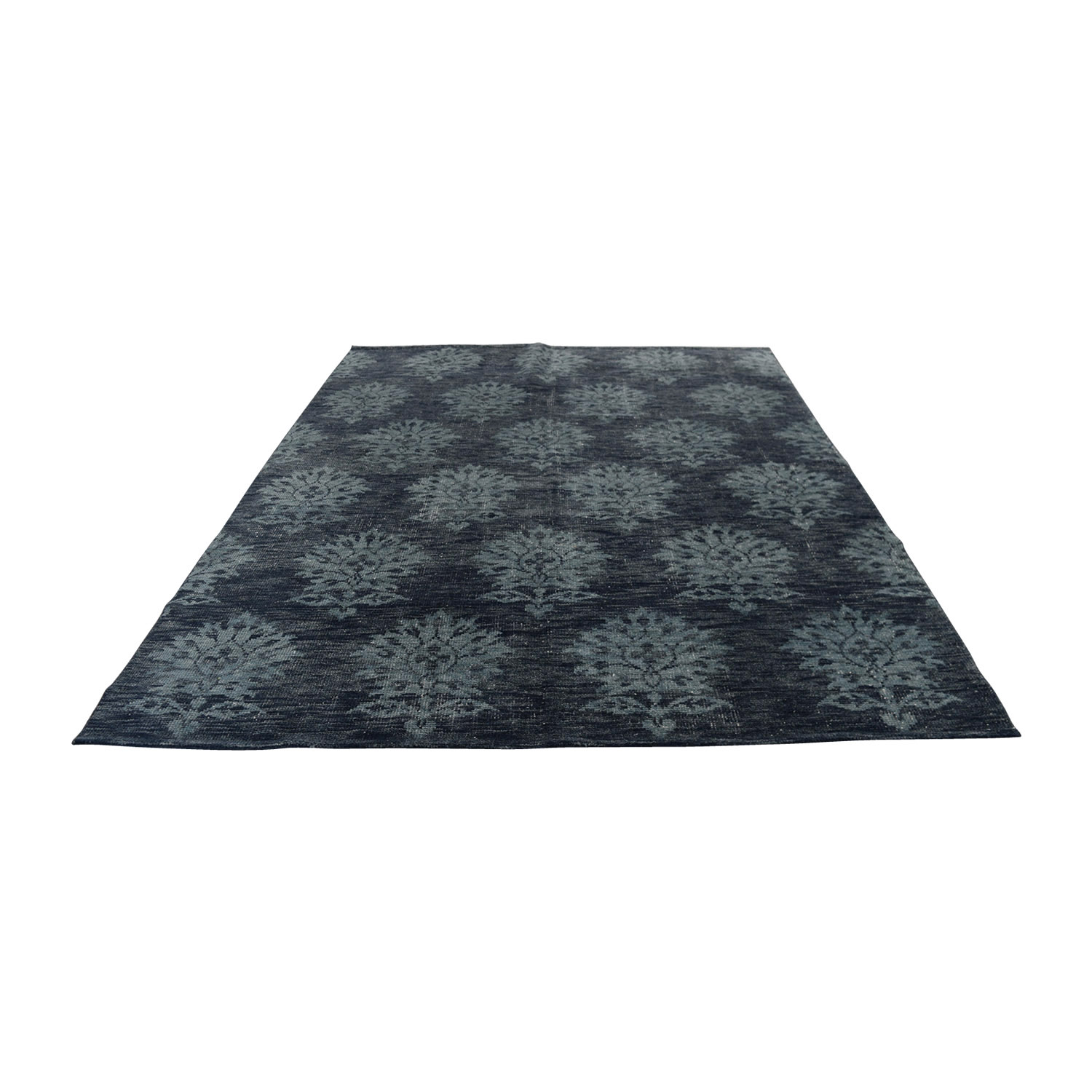 Obeetee Obeetee Hand Knotted Amira Azul Blue Wool Rug on sale