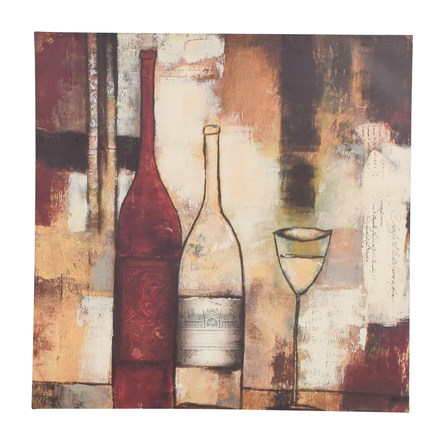 Wine Abstract Wall Art sale