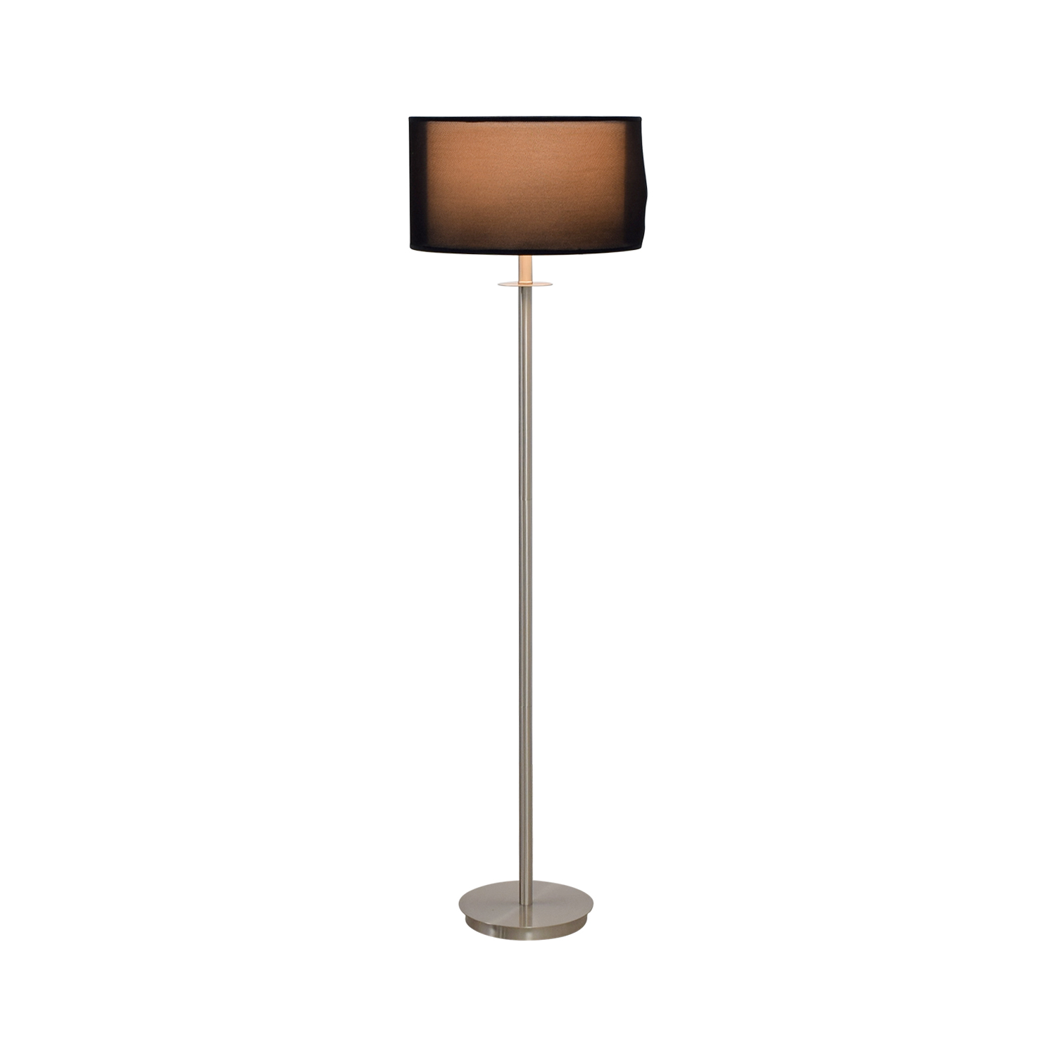 80 Off Metal Floor Lamp With Black Shade Decor