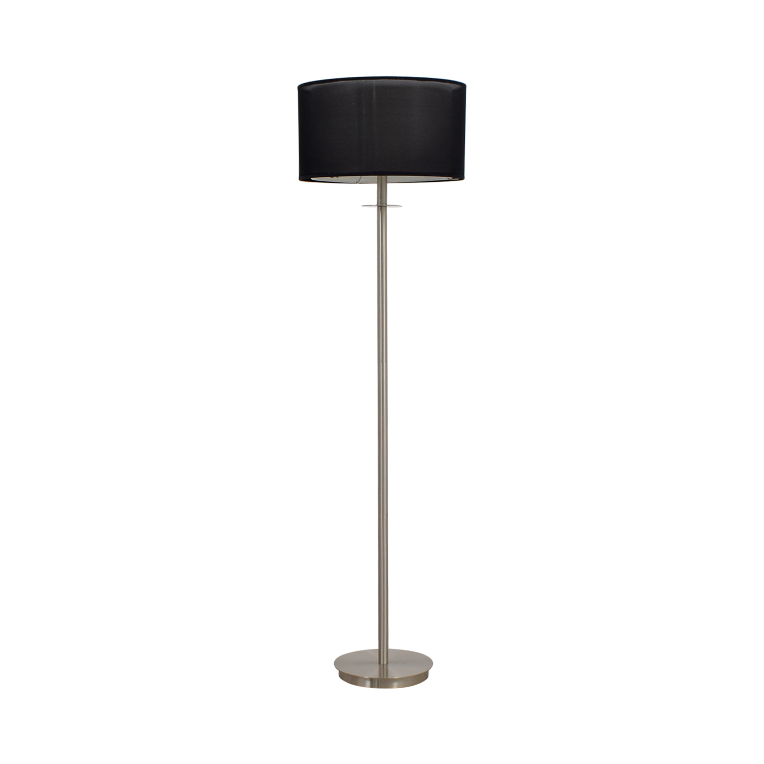 80 off metal floor lamp with black shade decor metal floor lamp with black shade nyc aloadofball Choice Image