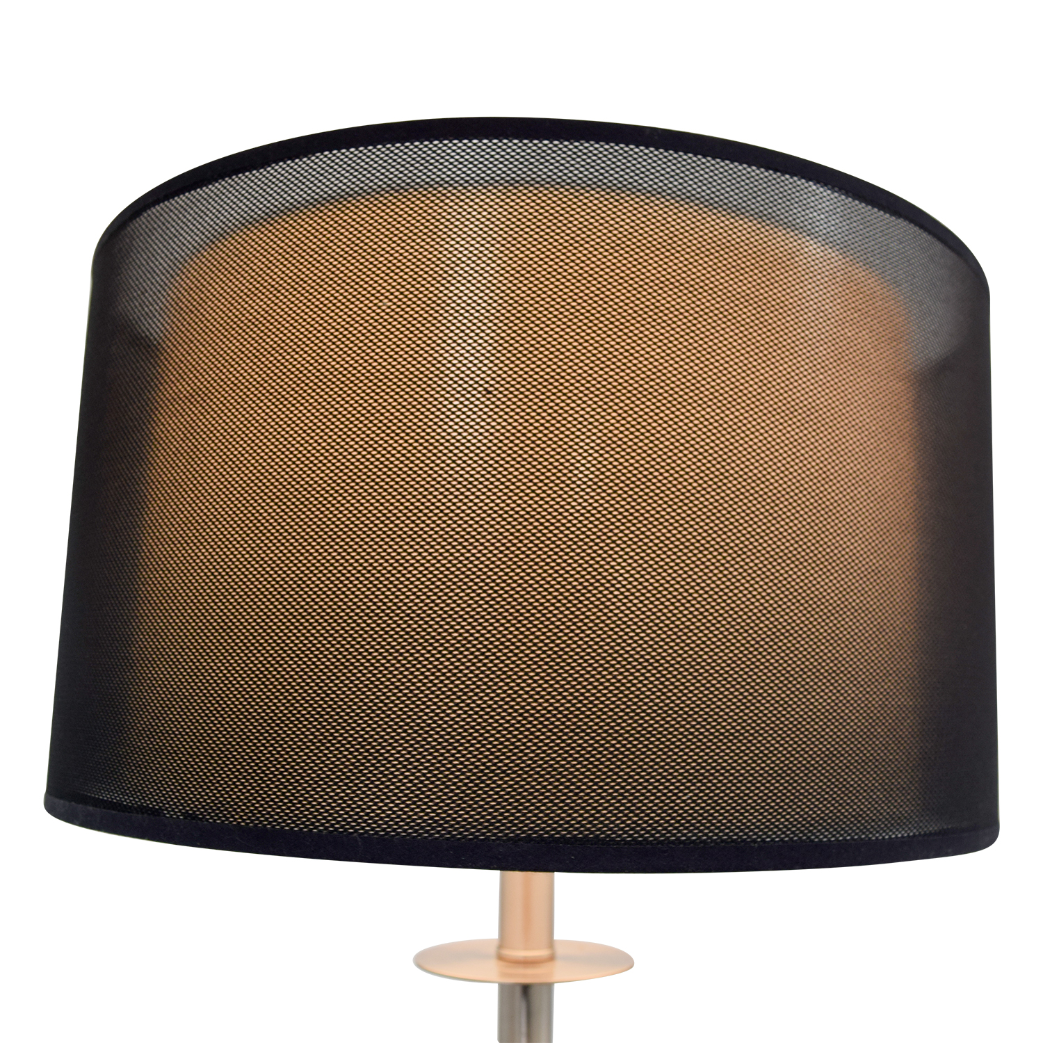 80 off metal floor lamp with black shade decor shop metal floor lamp with black shade lamps mozeypictures Images