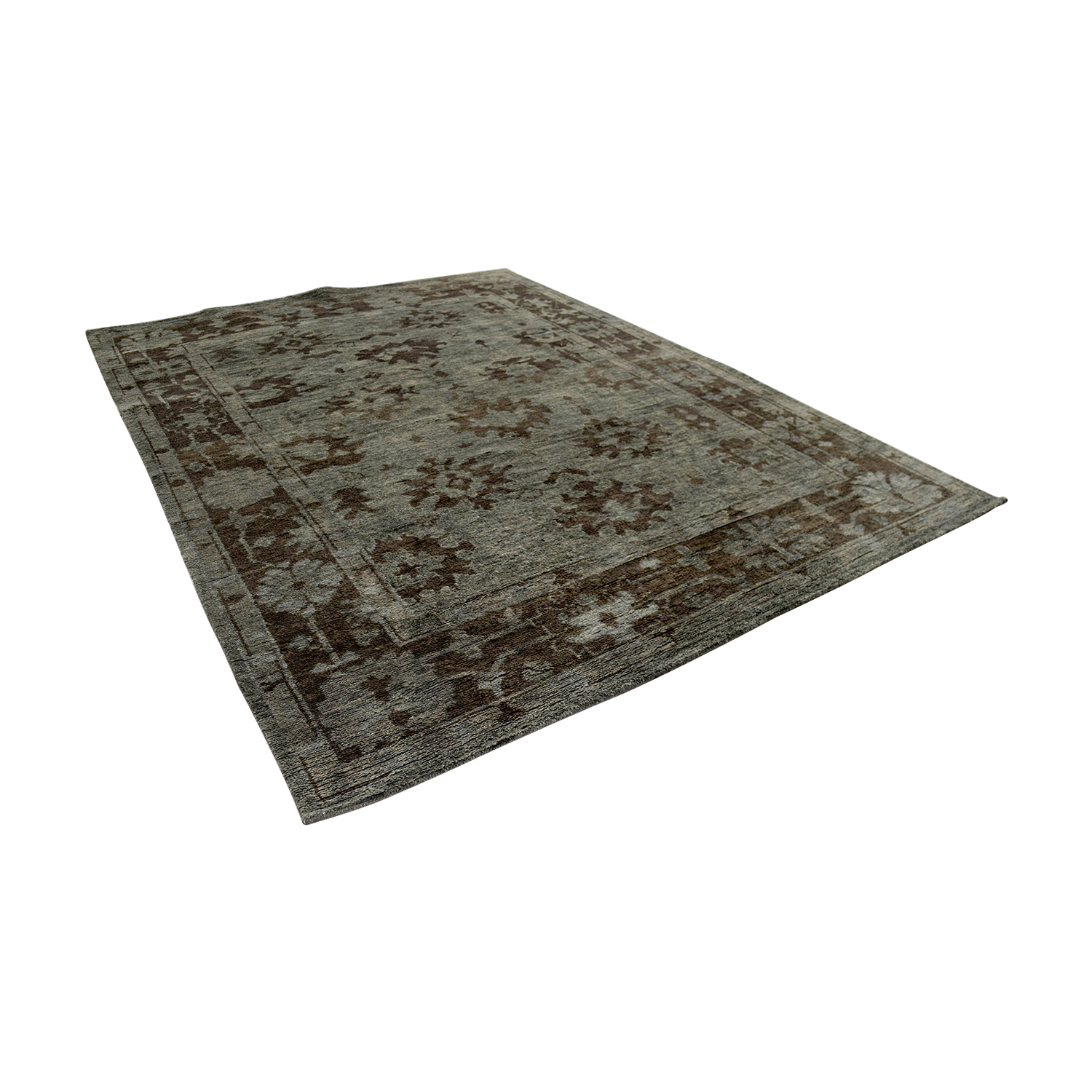shop Obetee Storm Tobacco Green Rug Obetee Rugs