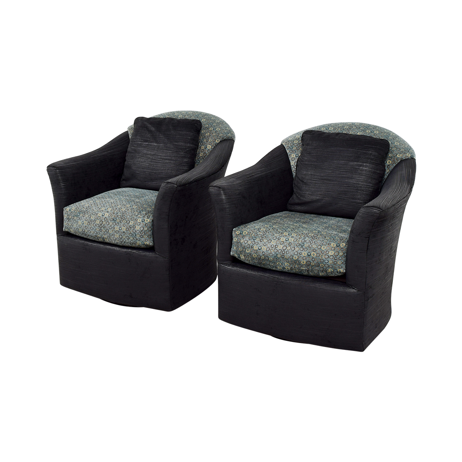 shop Fairfield Barrel Black Blue and Gold Accent Chairs Fairfield