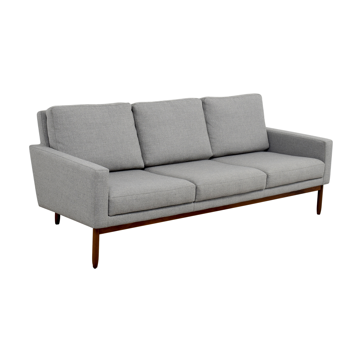 ... Design Within Reach Raleigh Light Grey Ducale Wool Sofa / Classic Sofas  ...